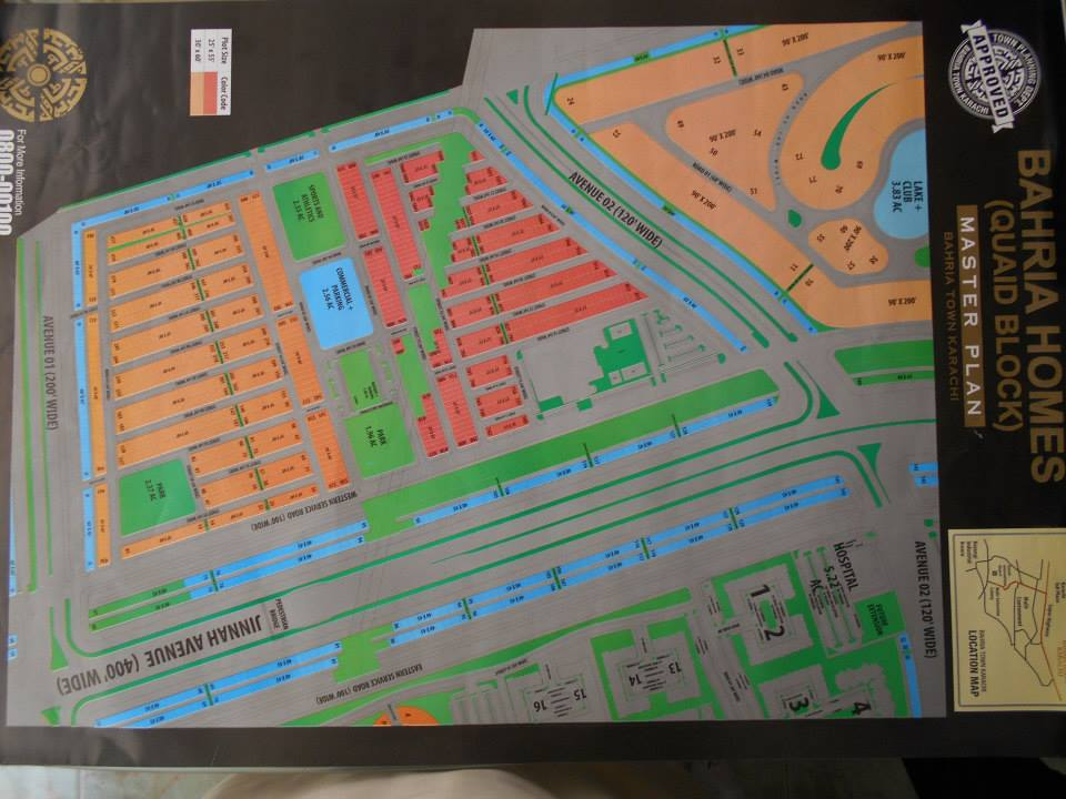 Bahria-Town-Karachi-Master-Plan-of-Bahria-Homes-Quaid-Block-Map-2